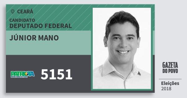 Santinho Júnior Mano 5151 (PATRI) Deputado Federal | Ceará | Eleições 2018