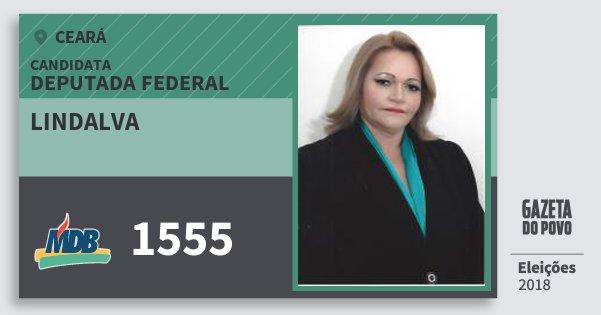 Santinho Lindalva 1555 (MDB) Deputada Federal | Ceará | Eleições 2018