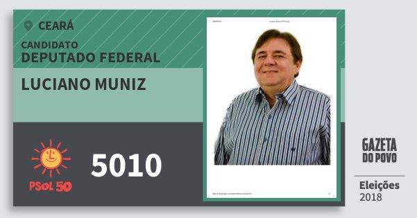 Santinho Luciano Muniz 5010 (PSOL) Deputado Federal | Ceará | Eleições 2018