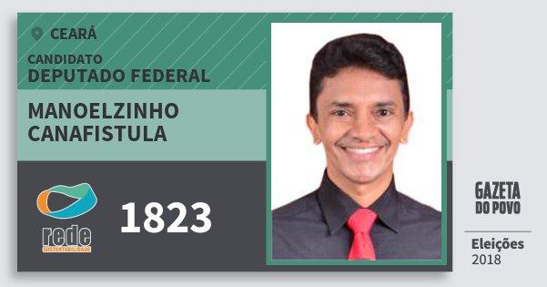 Santinho Manoelzinho Canafistula 1823 (REDE) Deputado Federal | Ceará | Eleições 2018