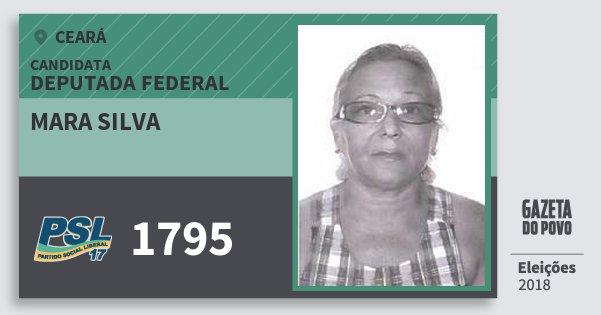 Santinho Mara Silva 1795 (PSL) Deputada Federal | Ceará | Eleições 2018