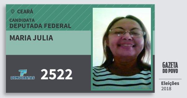 Santinho Maria Julia 2522 (DEM) Deputada Federal | Ceará | Eleições 2018