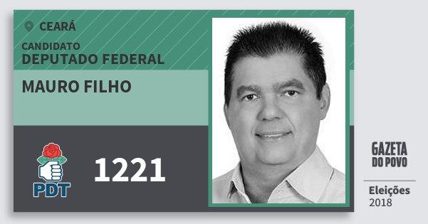 Santinho Mauro Filho 1221 (PDT) Deputado Federal | Ceará | Eleições 2018