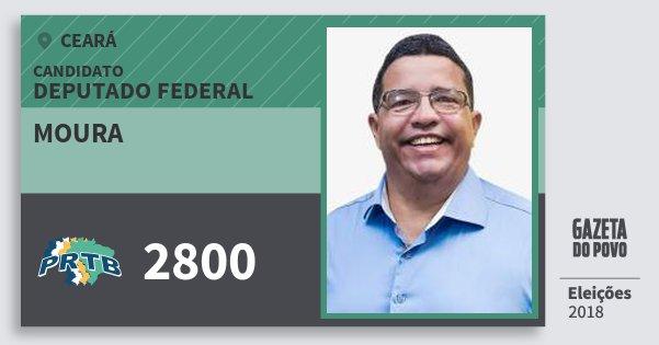 Santinho Moura 2800 (PRTB) Deputado Federal | Ceará | Eleições 2018