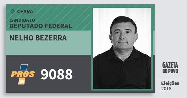 Santinho Nelho Bezerra 9088 (PROS) Deputado Federal | Ceará | Eleições 2018