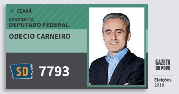 Santinho Odecio Carneiro 7793 (SOLIDARIEDADE) Deputado Federal | Ceará | Eleições 2018