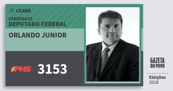 Santinho Orlando Junior 3153 (PHS) Deputado Federal | Ceará | Eleições 2018