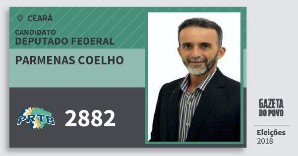 Santinho Parmenas Coelho 2882 (PRTB) Deputado Federal | Ceará | Eleições 2018