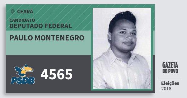 Santinho Paulo Montenegro 4565 (PSDB) Deputado Federal | Ceará | Eleições 2018
