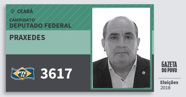 Santinho Praxedes 3617 (PTC) Deputado Federal | Ceará | Eleições 2018