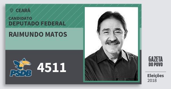 Santinho Raimundo Matos 4511 (PSDB) Deputado Federal | Ceará | Eleições 2018