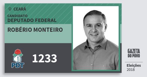 Santinho Robério Monteiro 1233 (PDT) Deputado Federal | Ceará | Eleições 2018