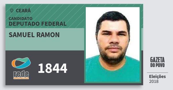 Santinho Samuel Ramon 1844 (REDE) Deputado Federal | Ceará | Eleições 2018