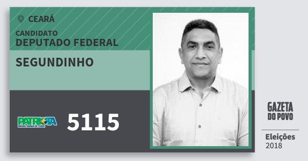 Santinho Segundinho 5115 (PATRI) Deputado Federal | Ceará | Eleições 2018