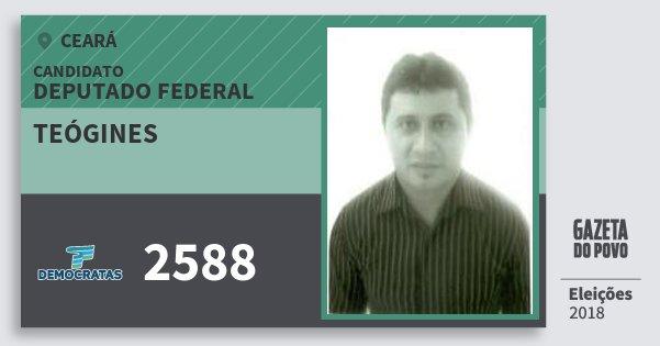 Santinho Teógines 2588 (DEM) Deputado Federal | Ceará | Eleições 2018