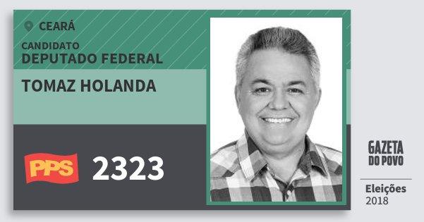 Santinho Tomaz Holanda 2323 (PPS) Deputado Federal | Ceará | Eleições 2018