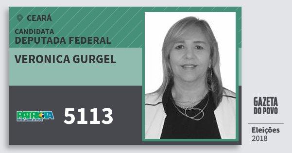 Santinho Veronica Gurgel 5113 (PATRI) Deputada Federal | Ceará | Eleições 2018