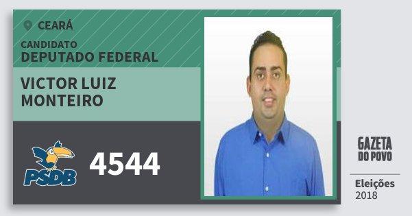 Santinho Victor Luiz Monteiro 4544 (PSDB) Deputado Federal | Ceará | Eleições 2018