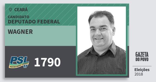Santinho Wagner 1790 (PSL) Deputado Federal | Ceará | Eleições 2018