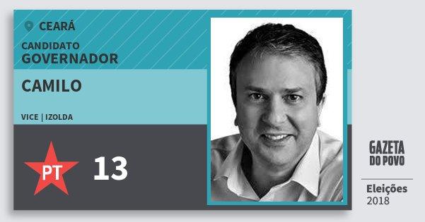 Santinho Camilo 13 (PT) Governador | Ceará | Eleições 2018