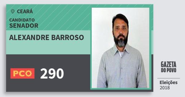 Santinho Alexandre Barroso 290 (PCO) Senador | Ceará | Eleições 2018