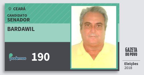 Santinho Bardawil 190 (PODE) Senador | Ceará | Eleições 2018