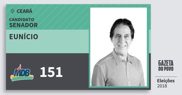 Santinho Eunício 151 (MDB) Senador | Ceará | Eleições 2018