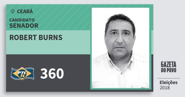 Santinho Robert Burns 360 (PTC) Senador | Ceará | Eleições 2018