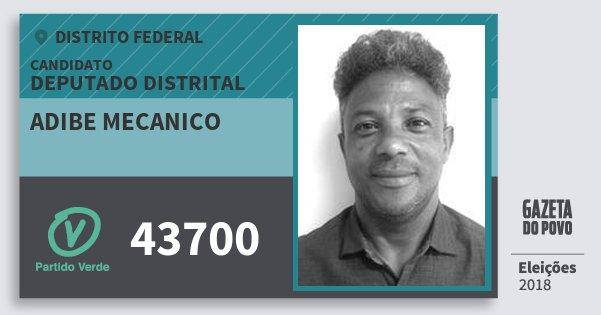 Santinho Adibe Mecanico 43700 (PV) Deputado Distrital | Distrito Federal | Eleições 2018
