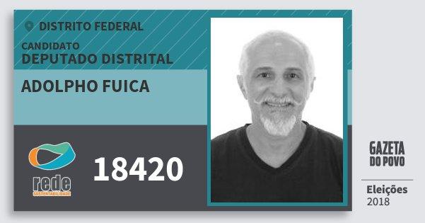 Santinho Adolpho Fuica 18420 (REDE) Deputado Distrital | Distrito Federal | Eleições 2018