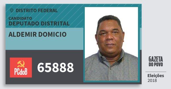 Santinho Aldemir Domicio 65888 (PC do B) Deputado Distrital | Distrito Federal | Eleições 2018