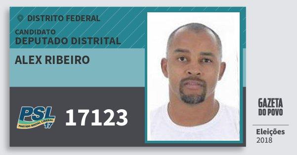 Santinho Alex Ribeiro 17123 (PSL) Deputado Distrital | Distrito Federal | Eleições 2018