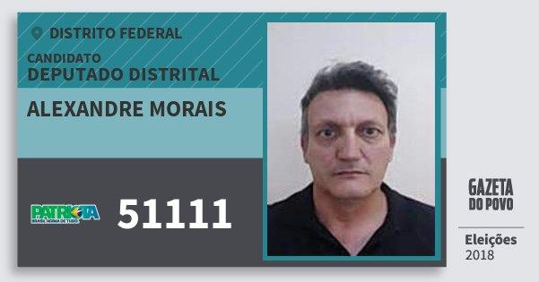 Santinho Alexandre Morais 51111 (PATRI) Deputado Distrital | Distrito Federal | Eleições 2018