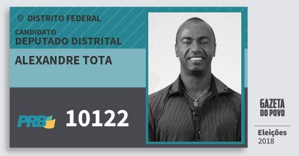 Santinho Alexandre Tota 10122 (PRB) Deputado Distrital | Distrito Federal | Eleições 2018