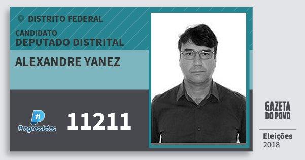 Santinho Alexandre Yanez 11211 (PP) Deputado Distrital | Distrito Federal | Eleições 2018