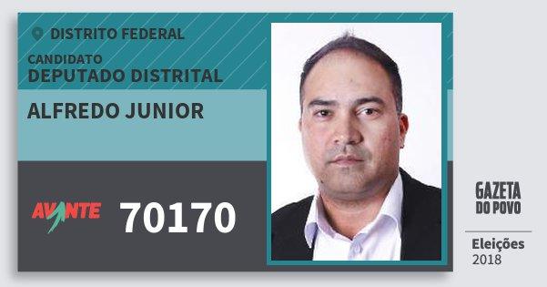 Santinho Alfredo Junior 70170 (AVANTE) Deputado Distrital | Distrito Federal | Eleições 2018
