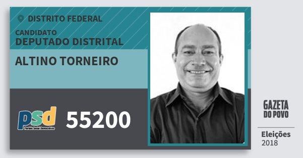 Santinho Altino Torneiro 55200 (PSD) Deputado Distrital | Distrito Federal | Eleições 2018
