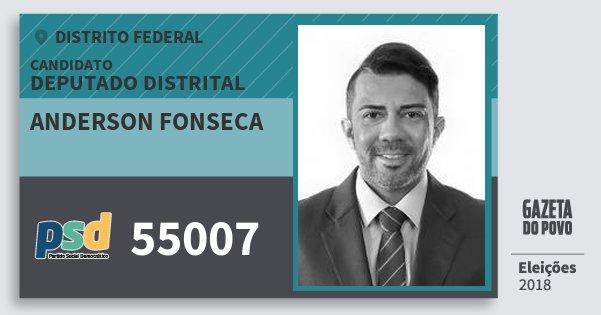 Santinho Anderson Fonseca 55007 (PSD) Deputado Distrital | Distrito Federal | Eleições 2018
