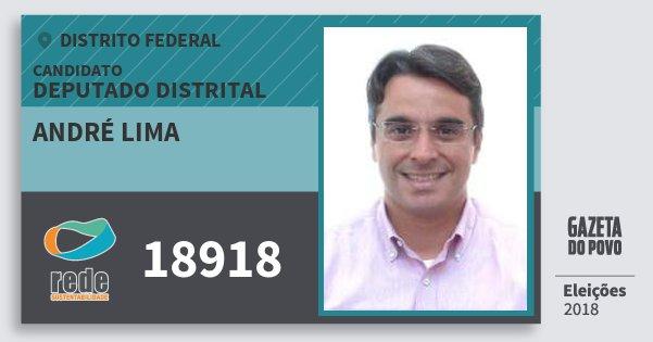 Santinho André Lima 18918 (REDE) Deputado Distrital | Distrito Federal | Eleições 2018