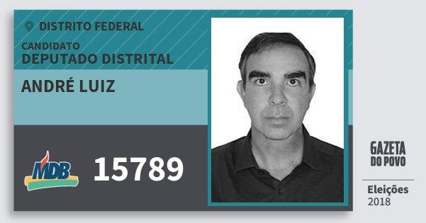 Santinho André Luiz 15789 (MDB) Deputado Distrital | Distrito Federal | Eleições 2018
