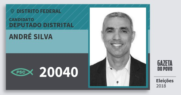 Santinho André Silva 20040 (PSC) Deputado Distrital | Distrito Federal | Eleições 2018