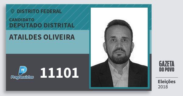 Santinho Ataildes Oliveira 11101 (PP) Deputado Distrital   Distrito Federal   Eleições 2018