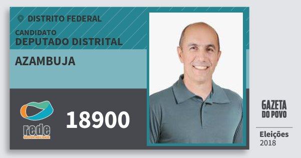 Santinho Azambuja 18900 (REDE) Deputado Distrital | Distrito Federal | Eleições 2018