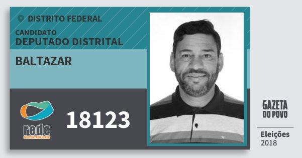 Santinho Baltazar 18123 (REDE) Deputado Distrital | Distrito Federal | Eleições 2018