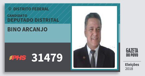 Santinho Bino Arcanjo 31479 (PHS) Deputado Distrital | Distrito Federal | Eleições 2018