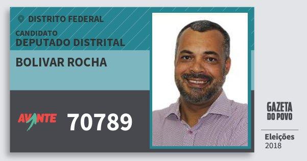 Santinho Bolivar Rocha 70789 (AVANTE) Deputado Distrital | Distrito Federal | Eleições 2018