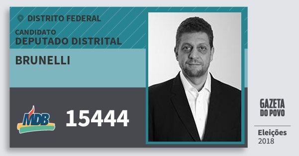 Santinho Brunelli 15444 (MDB) Deputado Distrital | Distrito Federal | Eleições 2018