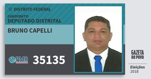 Santinho Bruno Capelli 35135 (PMB) Deputado Distrital | Distrito Federal | Eleições 2018