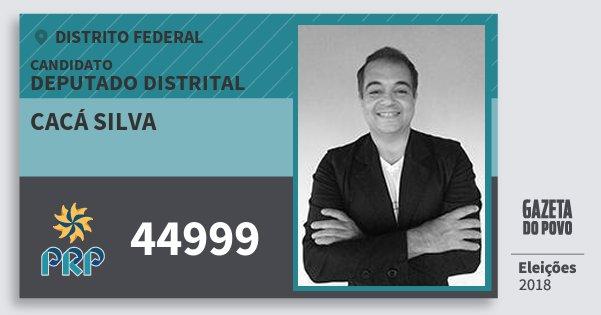 Santinho Cacá Silva 44999 (PRP) Deputado Distrital | Distrito Federal | Eleições 2018
