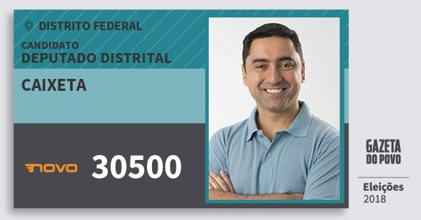 Santinho Caixeta 30500 (NOVO) Deputado Distrital | Distrito Federal | Eleições 2018